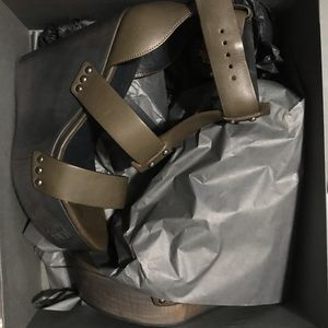 NEW all saints wedges heels size 8 army green